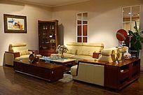 简洁时尚的起居室整体家居展厅