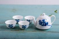 蓝莲花茶具