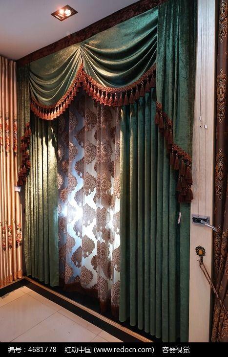 绿色调欧式布艺窗帘