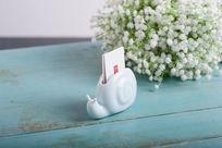 陶瓷蜗牛名片盒