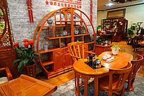 中国风传统实木家具展厅