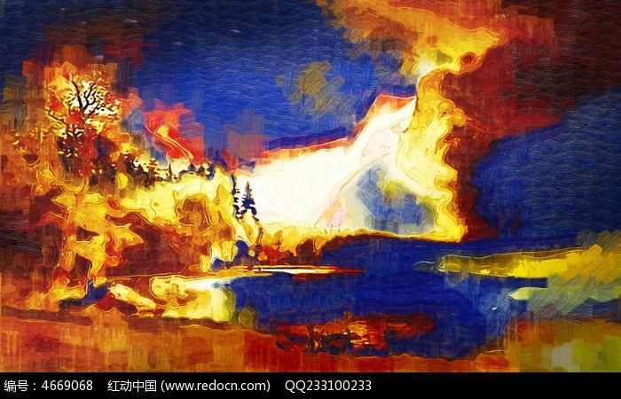 抽象油画 背景墙图片,高清大图_插画绘画素材