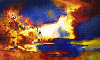 抽象油画 背景墙