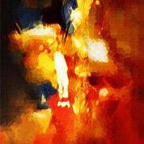 高端抽象油画装饰画