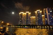 江边夜景美图