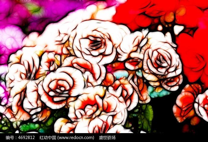 玫瑰花装饰画图片