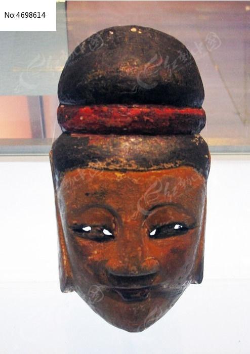 纳西族木雕傩戏面具