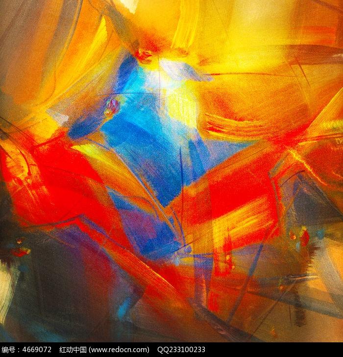 色块抽象油画 无框画图片,高清大图_插画绘画素材