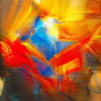 色块抽象油画 无框画