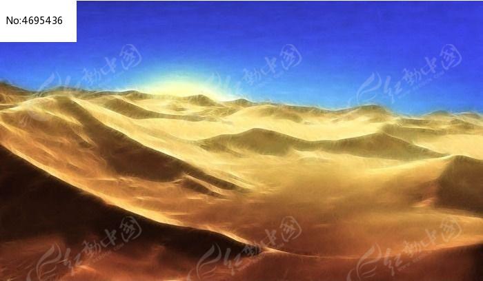 沙漠风景装饰画