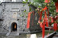 寺庙许愿树丝带
