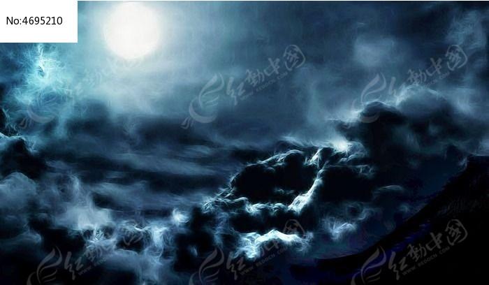 月亮风景画