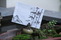 竹子图案信封