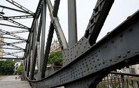 钢架桥结构局部