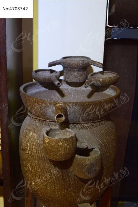 古代手绘水壶图片