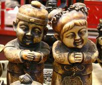 祝福古福娃雕刻