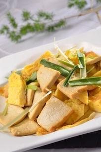 老豆腐炒土鸡蛋