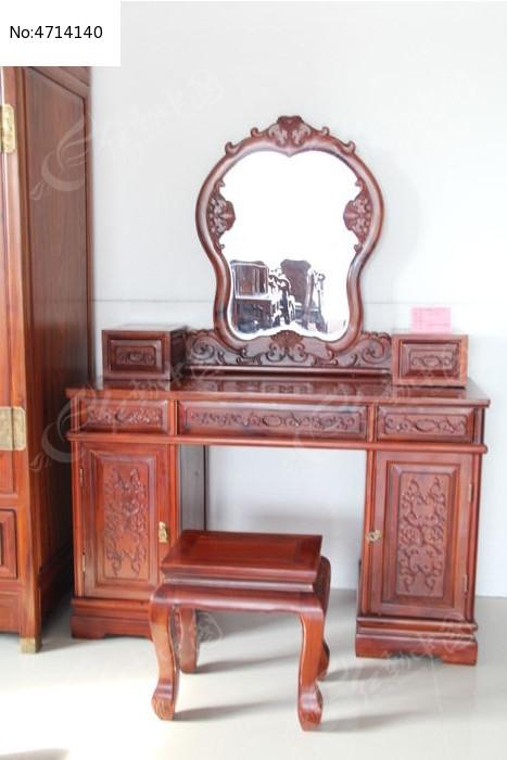 红木梳妆台 红木凳子 超顺红木家具
