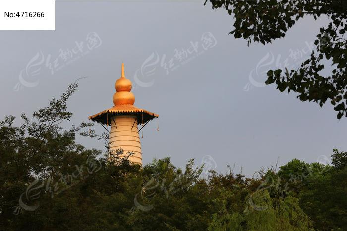 美丽的金葫芦塔图片,高清大图_建筑摄影素材