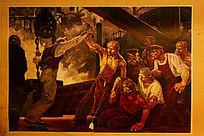 反法西斯战争油画