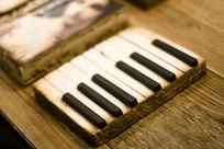 个性琴键艺术石砖