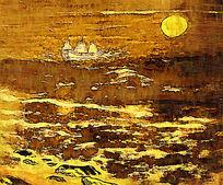 海上日出装饰画