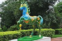 飞奔的马雕塑