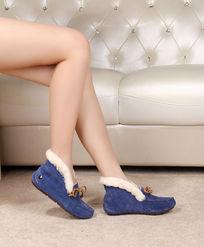 蓝色软底鞋