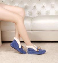 蓝色软底鞋侧面