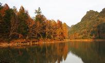 秋天水库风景摄影
