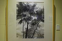 松树水墨画
