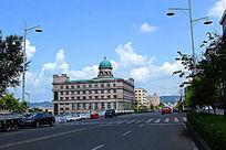 绥芬河街道摄影图片