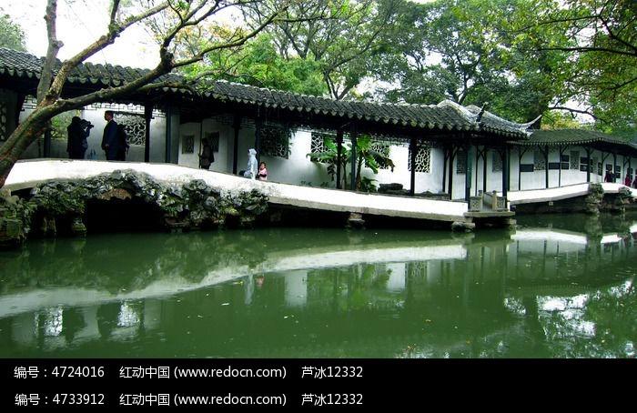 苏州园林拙政园长廊图片