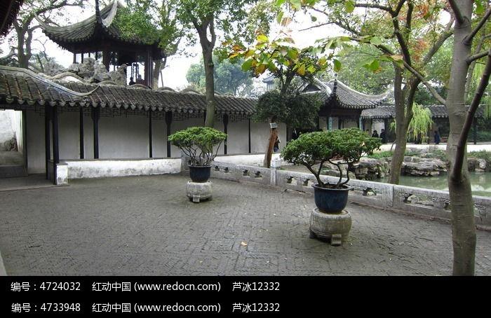 苏州园林拙政园园艺院子古建筑