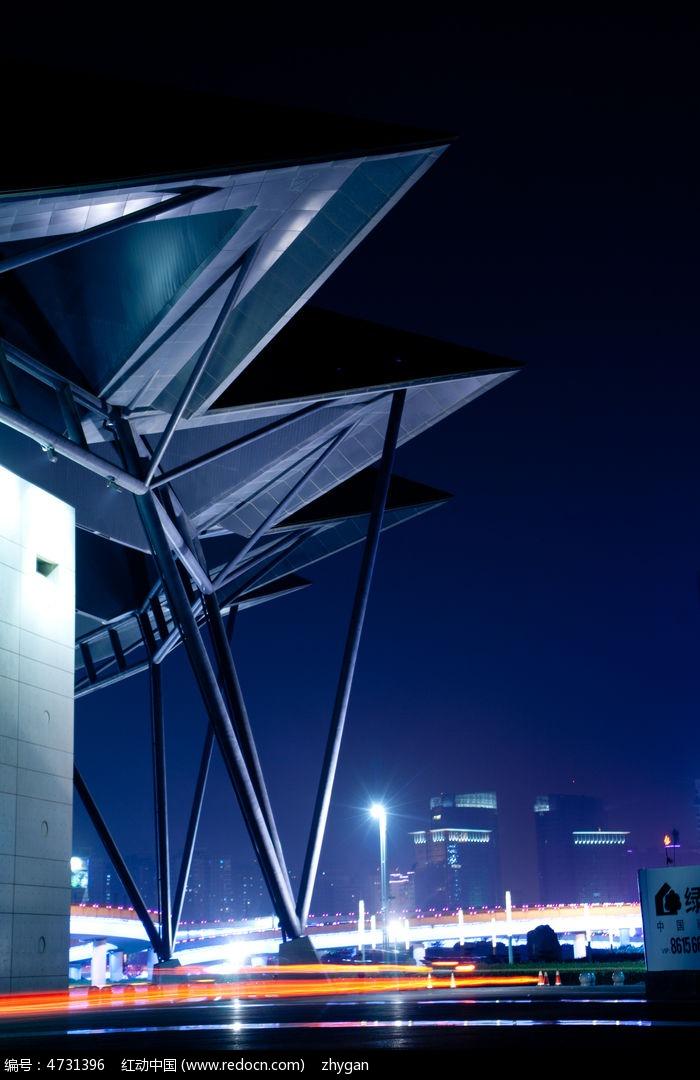郑州会展中心夜景图片