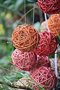 枝条编织的圆球