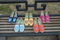 各种颜色鞋子拍摄
