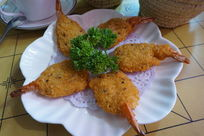 香菜凤尾虾