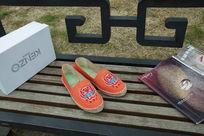 休闲鞋平底鞋橙色