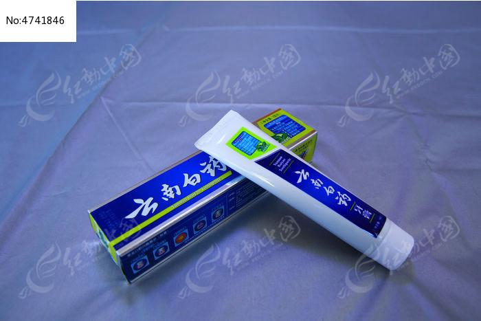 红色金装中药牙膏盒设计图片素材
