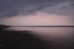 傍晚的海景