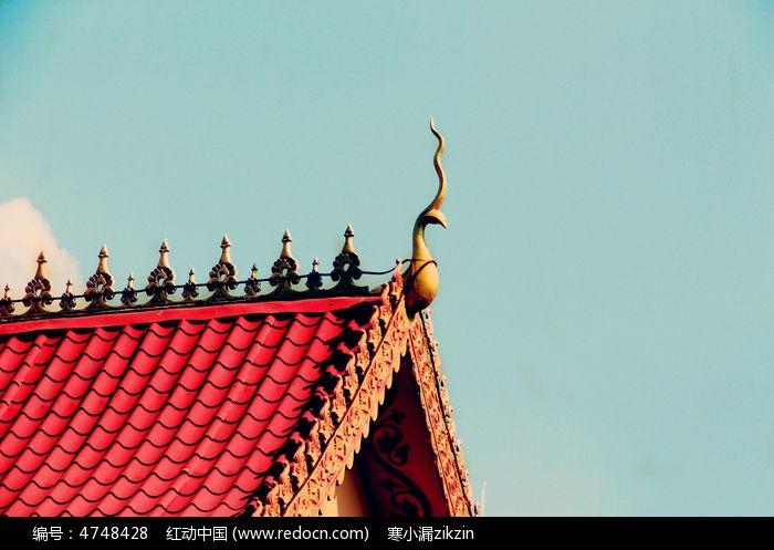 傣族精致的房屋顶