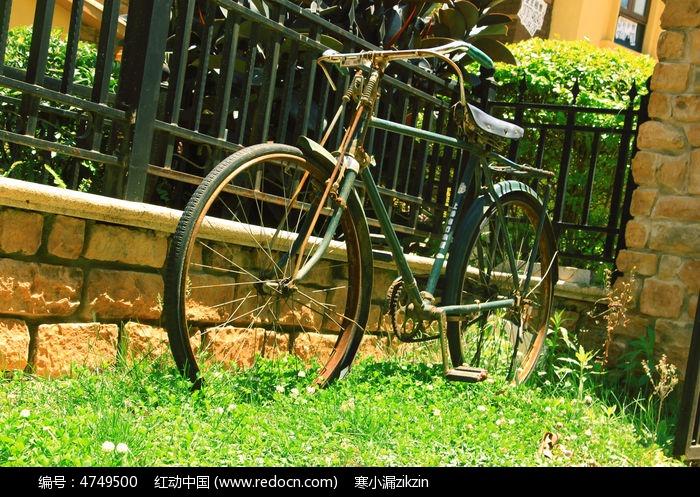 复古的彩虹牌单车图片