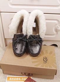黑银蜥蜴纹豆豆鞋毛茸茸暖和前面摄影