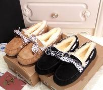 蝴蝶结豆豆鞋