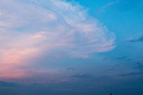 淡彩蓝天细云