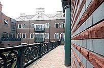 欧式红墙建筑