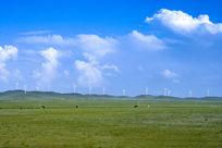 纯净的草原蓝天