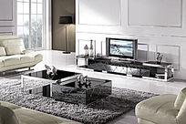 家具客厅茶几电视柜背景