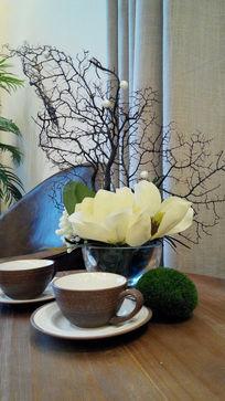绿植紫砂茶具